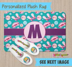 Slumber Party Spa Rug - Personalized Plush Rug - Personalized Nursery Rug - Children Rug - Nursery Girly Rug - Girly Things Rug - Spa Decor
