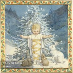 'Brethren of the Woods' or 'A Blessed Christmas' Margaret Tarrant.