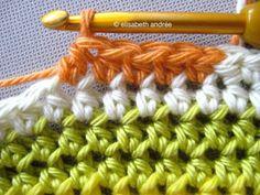 Changing colors half double crochets Tutorial ✿⊱╮Teresa Restegui http://www.pinterest.com/teretegui/✿⊱╮