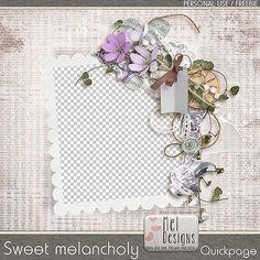 Sweet melancholy - Freebie http://www.meldesigns.fr/sweet-melancholy-free/