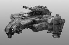 Tank Concept Art by Derk Venneman