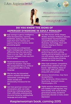 Do you know the signs of Asperger Syndrome in adult females?
