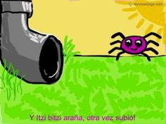 ▶ Itzi bitzi araña - spanish nursery rhyme - YouTube. verbos regulares del pretérito