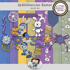 SoMa SpEGGtacular Easter MiniO kit Digital Scrapbooking, Whimsical, How To Draw Hands, Kids Rugs, Easter, Kit, Design, Home Decor, Shop