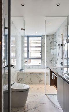 Facts On Unique Bathroom Renovation Ideas Do It Yourself Paz Interior, Bathroom Interior Design, Interior Decorating, Bathroom Designs, Interior Ideas, White Marble Bathrooms, Large Bathrooms, Modern Bathrooms, Black Bathrooms