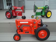 Tractors made from old sewing machines.
