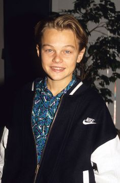 Young Leonardo DiCaprio in Nike Varsity jacket