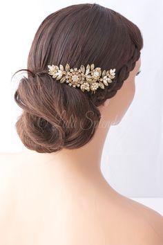 Bridal Hair Comb Vintage Leaf Leaves Wedding Comb by LuluSplendor