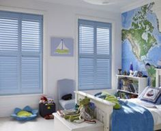 Boys Bedroom Ideas – Little Explorer... Airplanes instead of boats... Love the map on the wall! Hunts room