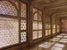 Islamic grillework. Such beautiful shadows.