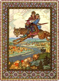 Борис Зворыкин. Иван-царевич и серый волк