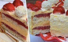 Keksíkový dort s vanilkovou příchutí Sweet Recipes, Cake Recipes, Tiramisu, Pancakes, Cheesecake, Sweets, Ale, Breakfast, Ethnic Recipes
