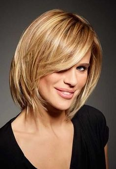 Short Straight Hair with Bangs for Over 50