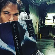 Ian Somerhalder - 14/03/17 - Beginning of Season 8. Damon. Click Omaze.com/Ian & come hang with me for the day in Chicago on a couple of weeks. I'll fly you there and we can talk about Damon's reading material... It's not the book that concerns me Damon. Severed leg on the railing? Maybe? https://www.instagram.com/p/BRocd2_gB9F/ - Twitter / Instagram Pictures