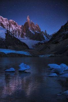 Laguna Torre - A Frozen Night by Yan Zhang