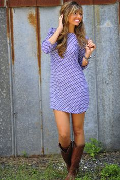 Dress and boots... I really love the style of the dress. Must find one for spring.