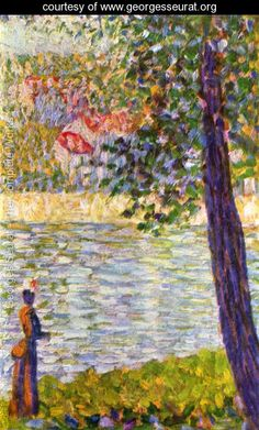 The Seine with Courbevoie - Georges Seurat - www.georgesseurat.org