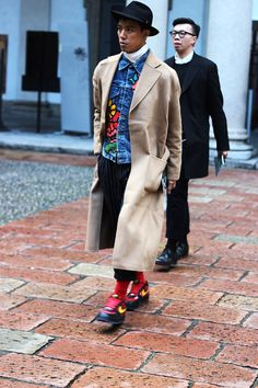 STREETSTYLE_mfw_FW15_day1_fy12 denim jacket men fashion style