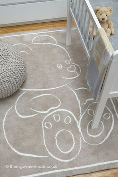 Kids Bedroom Beige Teddy Bear Rug on sale in the UK along with best prices on many other flooring goods. Lampe Ballon, Teddy Bear Design, Kids Collection, Verre Design, Bear Rug, Childrens Rugs, Nursery Rugs, Vivid Colors, Trendy Colors