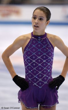 Alissa Czisny practising at the 2004 US National Championships.