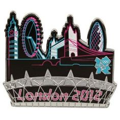 Price: $14.95 - Olympics London 2012 Stadium Skyline Oversized Collector Pin - TO ORDER, CLICK THE PHOTO
