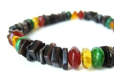 Men's rasta bracelet by Jenny Hoople of Authentic Arts