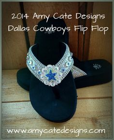 Amy Cate Designs - 2014 ACD Dallas Cowboys Flip Flop, $85.00 (http://amycatedesigns.mybigcommerce.com/2014-acd-dallas-cowboys-flip-flop/)