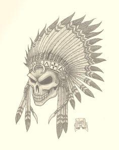 gladiatorr skull drawings   Indian Skull Picture