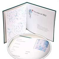 Keep track of baby's firsts with this science inspired memory book.