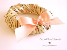 cereal box wreath