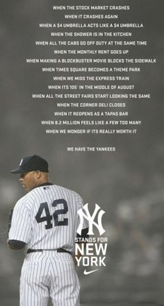 New York Yankees- Mo Rivera Yankees Baby, New York Yankees Baseball, Damn Yankees, Flag Football, Nike Ad, Derek Jeter, At Least, Baseball Cards, Baseball Players