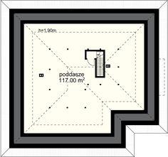 Neptun IV projekt - Poddasze 117.00 m² strych Floor Plans, Diagram, Home, Ad Home, Homes, Haus, Floor Plan Drawing, House Floor Plans, Houses