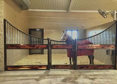 Make the tire barn feel bigger and cleaner. concern would be heat conservation in cold ID winters. Barn Stalls, Horse Stalls, Dream Stables, Dream Barn, Luxury Horse Barns, Equestrian Stables, Horse Barn Designs, Horse Barn Plans, Horse Farms