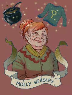 Molly Weasley by brenna-ivy