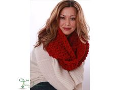 Infinity Scarf Cowl Loop Scarf Chunky Scarf by TinaDeanDesigns, $114.00