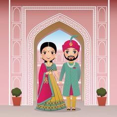 Indian Wedding Invitation Cards, Wedding Invitation Background, Wedding Invitation Video, Wedding Invitation Card Design, Traditional Wedding Invitations, Wedding Invitation Inspiration, Wedding Cards, Birthday Background, Wedding Couple Cartoon