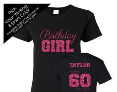94848afd0 Double Digits Birthday Girl Shirt with ANY NAME - Personalize the Colors -  All Glitter Option - Birthday Party Shirt -10th Birthday