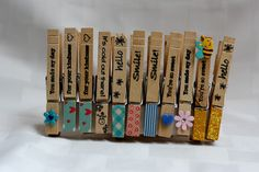 Rock Paper Cricut: Stamped clothespins