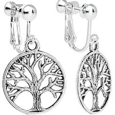 Body Candy Tree of Life Clip On Dangle Earrings * Check this awesome product by going to the link at the image. Note:It is Affiliate Link to Amazon.