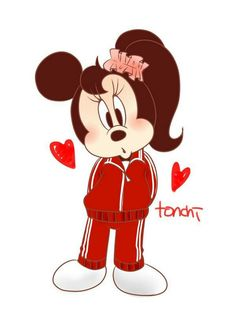 Minnie Minnie Mouse Drawing, Mickey Mouse Art, Mickey Mouse And Friends, Cute Disney, Disney Mickey, Disney Art, Mickey Mouse Wallpaper Iphone, Disney Wallpaper, Disney Images