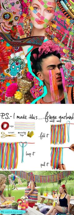 P.S. - I Made This presents...DIY fringe garland