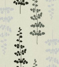 Home Decor Fabric-Waverly Floating Petals Black