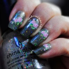 Water decals on OPI - Not Like The Movies #adournails