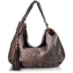 Gucci Python Jungle Large Hobo Handbag. Isaw it at Neiman MArcus! It looks amazing