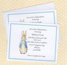 Peter Rabbit Invitations Peter Rabbit Girl Boy Baby Shower