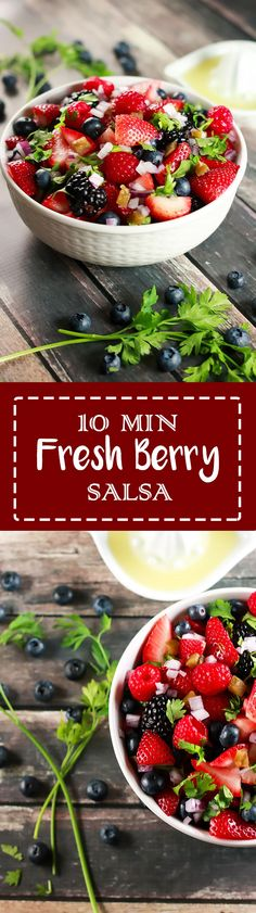 10 Minute Fresh Berry Salsa | This recipe is SO easy to make, yet ...