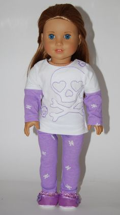 Pajamas for American Girl or other 18 Dolls by sugarpopdollclothes, $8.00