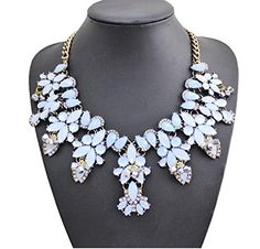Fashionable elegant choker necklace. High quality gemstone rhinestone. Not fade,bright color,look fashion. Colors:White,Leopard,Pink,Light blue. Occasion: casual wear,anniversary, bridal, cocktail party, wedding