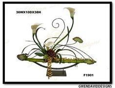 Contemporary Custom Silk Flower Arrangement from Gwen David Designs