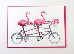 This greeting card.   Community Post: 15 Random Gifts For That One Friend Who Really Loves Flamingos